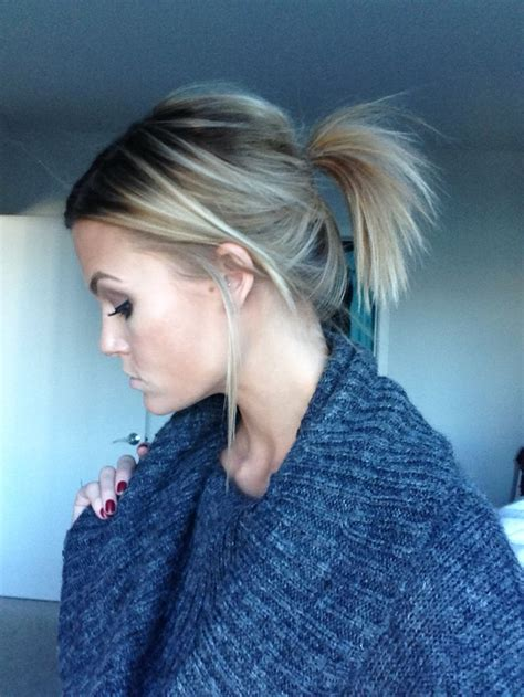 how to do ponytail with short layers best 25 short ponytail hairstyles ideas on pinterest