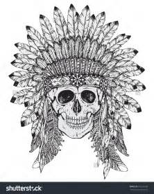 Indian Headdress Template by Vector Illustration Of American Indian