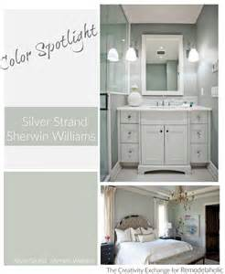 Benjamin Moore Green Bathroom Remodelaholic Color Spotlight Silver Strand By Sherwin