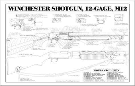 12 gun plans shotguns blueprints posters mouse pads mugs