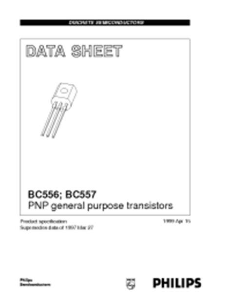 bc557b transistor datasheet bc557b philips pnp general purpose transistors
