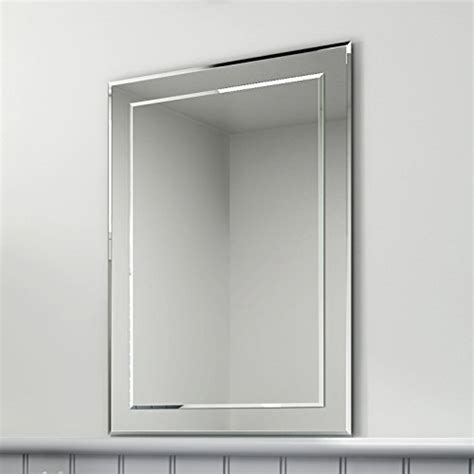 bevelled bathroom mirror 500 x 700 mm rectangular bevelled designer bathroom wall