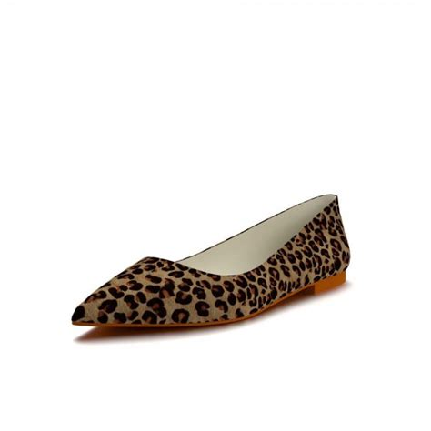comfortable leopard flats leopard print flats pointy toe suede chunky heels