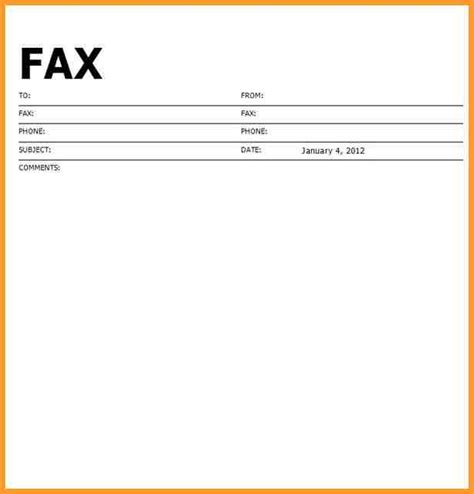fax template word printable blank fax cover sheet letter format mail