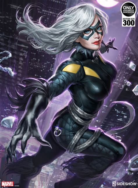 black cat marvel marvel black cat art print by sideshow collectibles