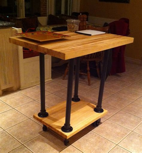 how to build a movable kitchen island diy movable butcher block kitchen island food cart