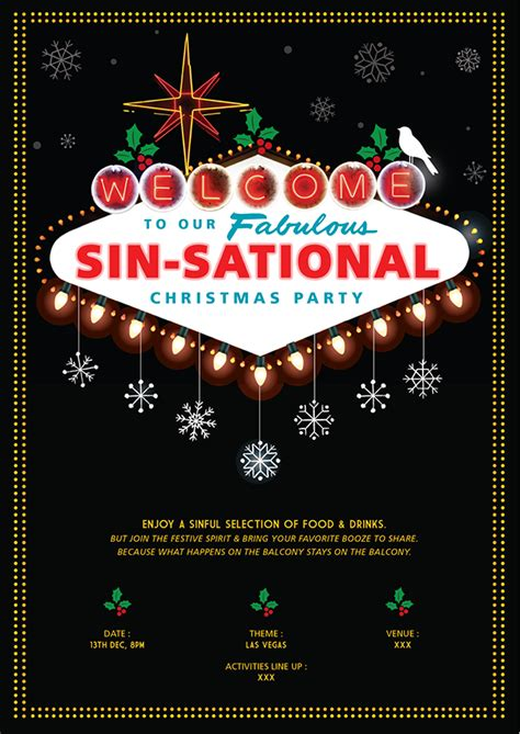 project templates free las vegas christmas party on behance