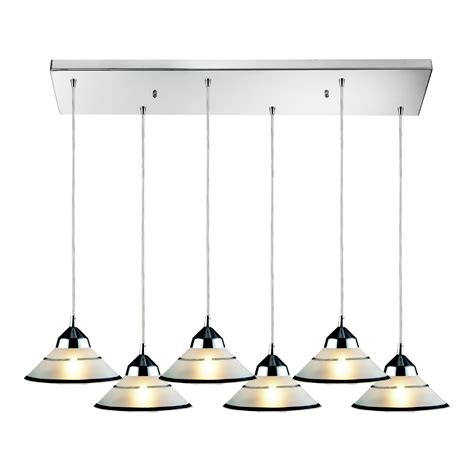 Multi Pendant Lighting Fixtures Elk Lighting 1477 6rc Refraction 6 Light Multi Pendant Ceiling Fixture