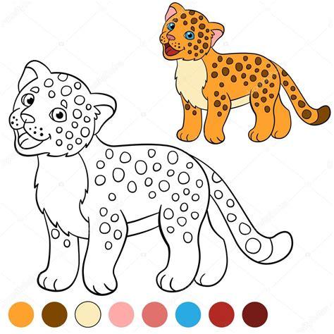 imagenes de jaguar para iluminar p 225 gina para colorear con colores jaguar de lindo beb 233