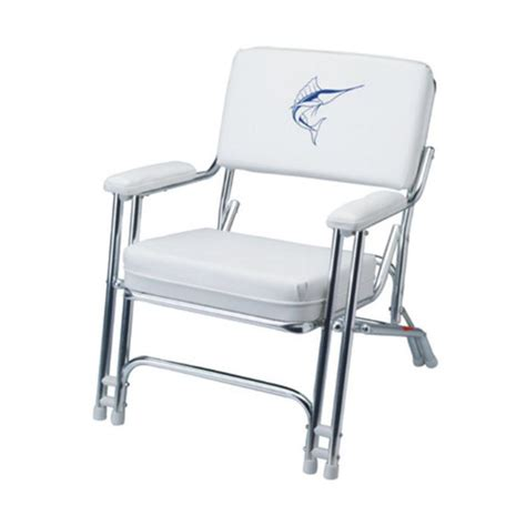 boat deck chairs west marine garelick mariner folding deck chair with sewn cushions