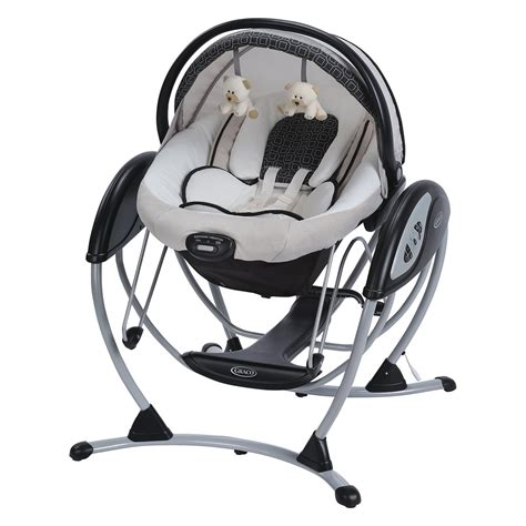 baby glider swing graco baby 174 glider elite gliding swing bassinet