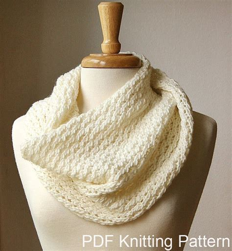knitting pattern for infinity scarf on circular needles knitting pattern chunky cowl knitting pattern scarf diy