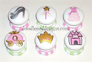 painted princess drawer knobs set of 6 by