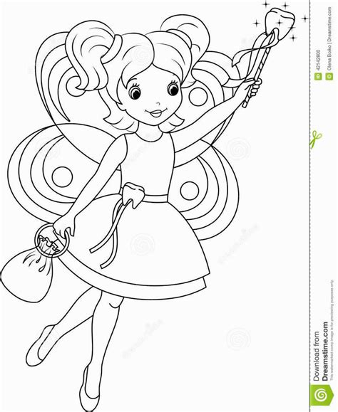 coloring page of tooth fairy tooth fairy coloring pages