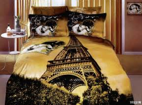Eiffel Tower Duvet Set Eiffel A Gorgeous And Romantic Print Of The Eiffel Tower