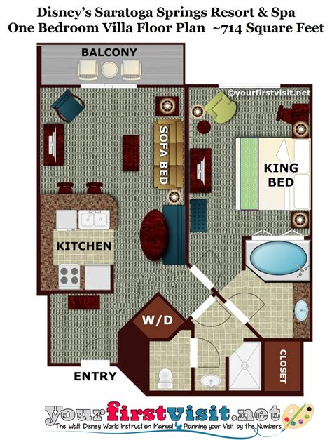 saratoga springs two bedroom villa floor plan review disney s saratoga springs resort spa