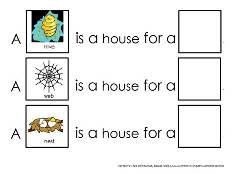 printable animal habitat pictures a house is a house for me animal habitats wordsofhisheart