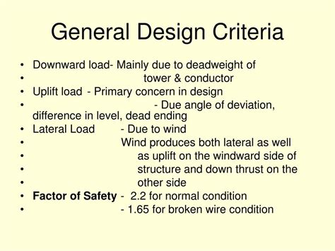 design criteria for a l ppt execution of soil investigation and foundation
