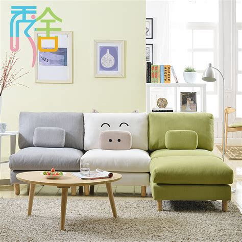 Living Room No Sofa Aliexpress Buy Show Homes Sofa Small Apartment Living Room Creative Piggy Ikea