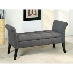 Upholstered Bench For Bedroom Hokku Designs Revionna Two Seat Bench With Storage