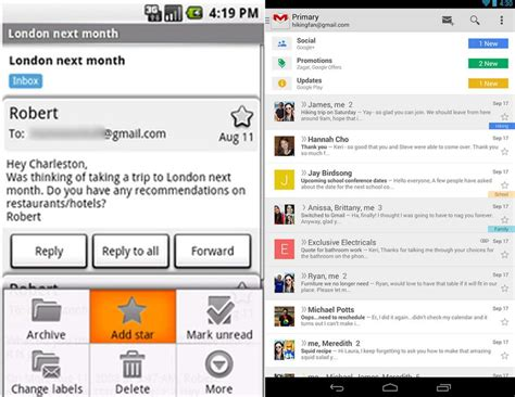 gmail android the many faces of gmail a 10 year retrospective