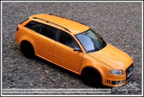 Audi RS4 avant orange papaye Minichamps coches miniaturas 1/18 Comprar/Venta coches miniaturas