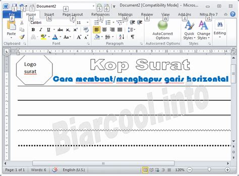 membuat garis lurus di ms word cara membuat garis horizontal di word 2007 tips office