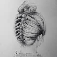doodle hair bun my new braid pen drawing hair