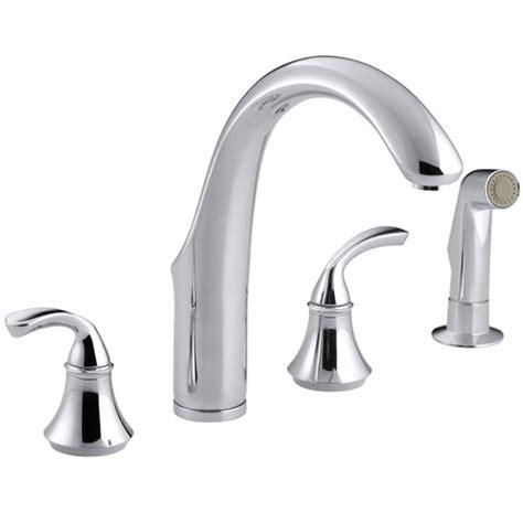 kohler forte kitchen faucet kohler k 10445 cp forte widespread kitchen faucet polished chrome faucetdepot