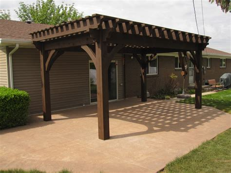 12x20 oversized diy timber frame pergola kit backyard