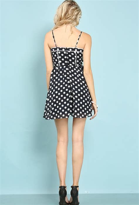 Mini Dress Polkadot Katun polka dot cami mini dress shop day dresses at papaya