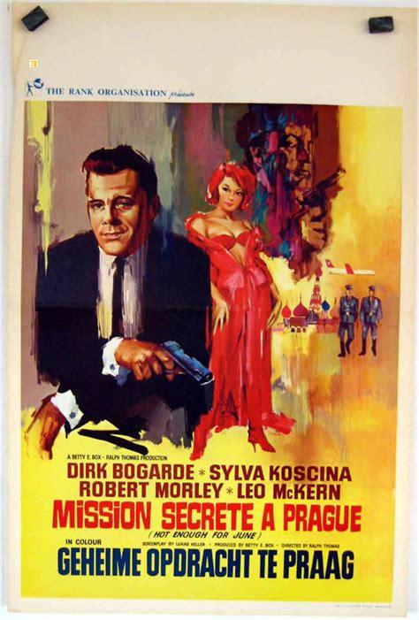 film hot enough for june quot mission secrete a prague quot movie poster quot hot enough for