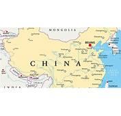 Carte De La Chine  Relief Villes Administrative