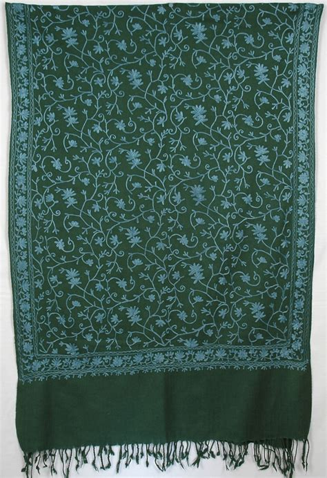 3323 Ceruty Polkadot green embroidery shawl scarf shawls sale on bags skirts jewelry at polkadotinc