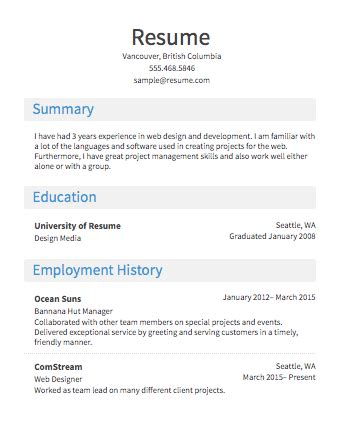 resume layout resume layout 2017