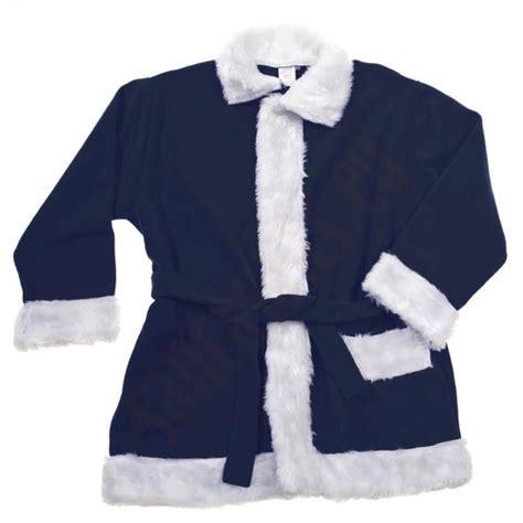 navy santa suit jacket trousers and hat santa suits