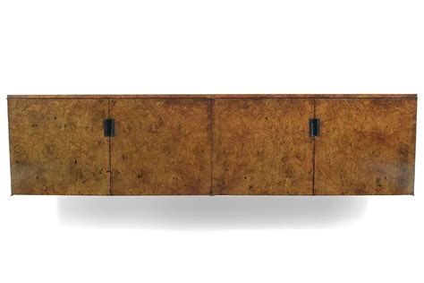 Wall Mounted Credenza roger sprunger burled wood wall mounted credenza by dunbar for sale at 1stdibs