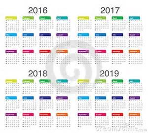 Kalender Vip 2018 Calendar 2016 2017 2018 2019 Stock Vector Image 61091010