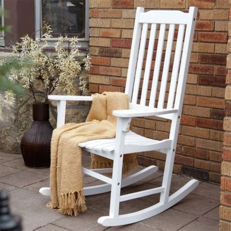 Outdoor White Rocking Chair by Coral Coast Indoor Outdoor Mission Slat Rocking Chair