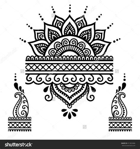 henna tattoo vorlagen henna flower template mehndi henna