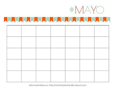 almanaque mes mayo 2016 calendarios para imprimir