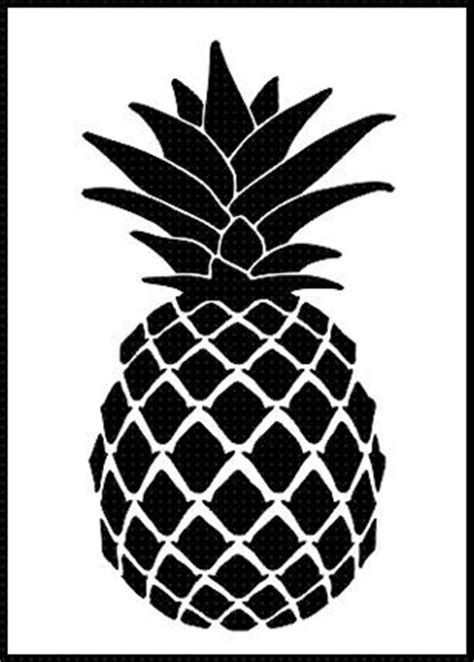 Mustard Yellow Home Decor pineapple airbrush stencil template paint wall home decor