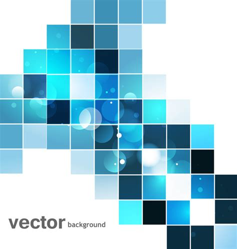 background design vector format abstract blue colorful mosaic whit background vector