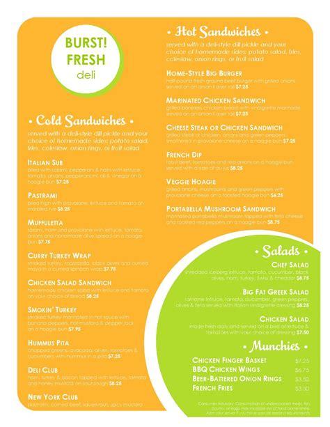 deli menu templates deli menu template filename heegan times