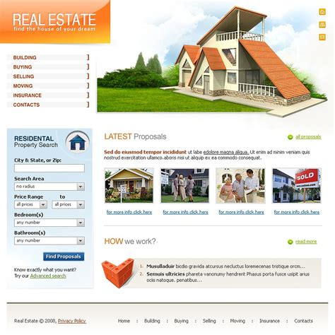 website templates for real estate agents real estate agency website template 18044