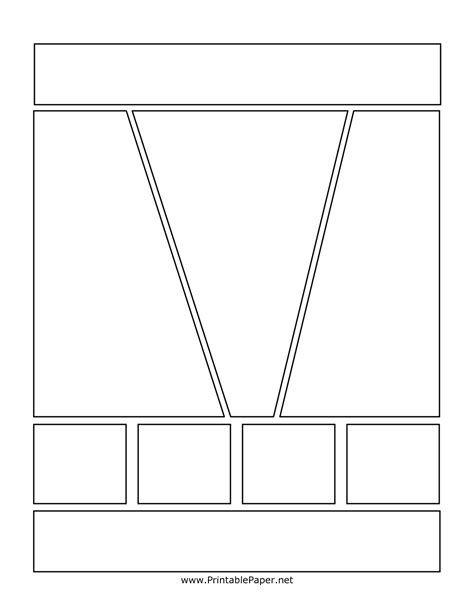 7 Best Images Of Printable Comic Book Layout Template Comic Frames Template