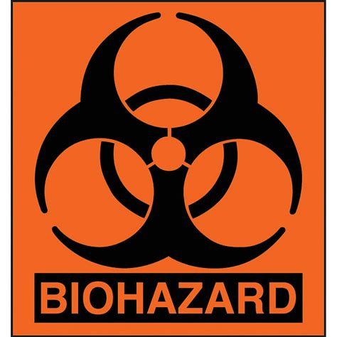 Etiketten Zeichen by Biohazard Labels 1 Quot X 1 Quot Pack Of 100 The Safariland