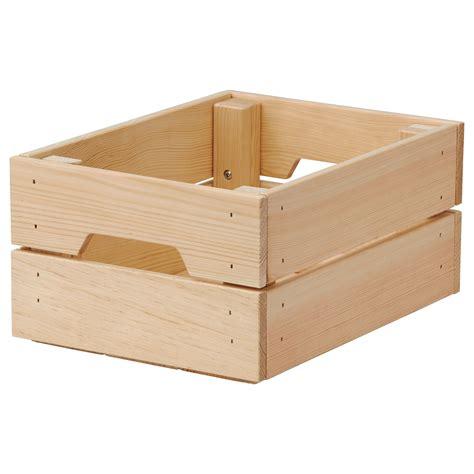 ikea wood knagglig box pine 23x31x15 cm ikea