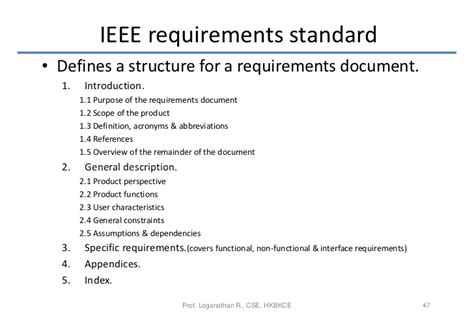 ieee specification template software requirements