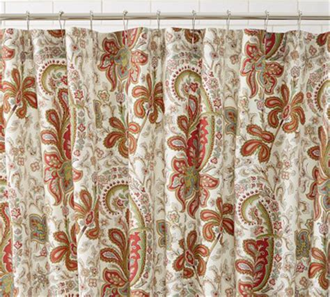 orange paisley shower curtain red shower curtains decor by color